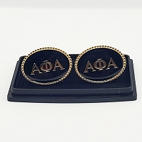 Alpha Phi Alpha Oval Greek Letter Cuff Links