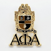 Alpha Phi Alpha Lapel Pin with Shield and Letters