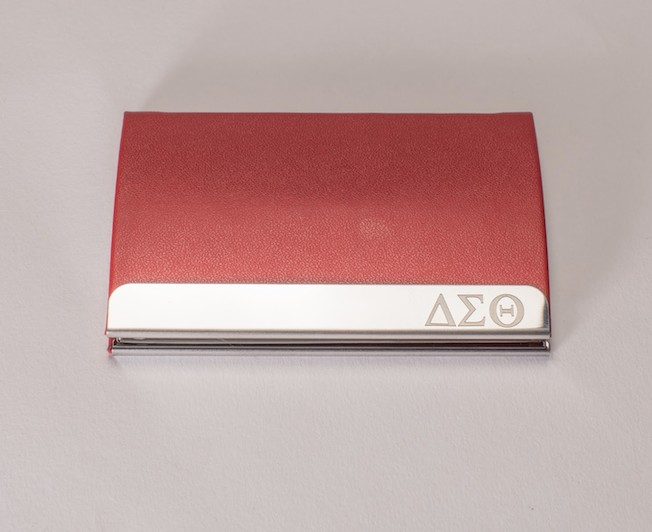 Delta Sigma Theta Engraved Business Card Holder