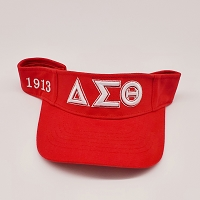 Delta Sigma Theta Embroidered Visor