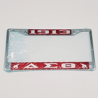 Delta Sigma Theta Car Frame - Letters and Year
