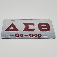 Delta Sigma Theta Auto Plate with Oo-Oop