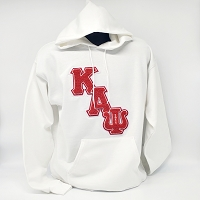 Kappa Alpha Psi Hoodie - White with Chenille Letters