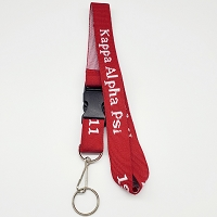 Kappa Alpha Psi Lanyard with detachable key ring