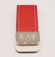 Kappa Alpha Psi Leather Money Clip with Greek letters