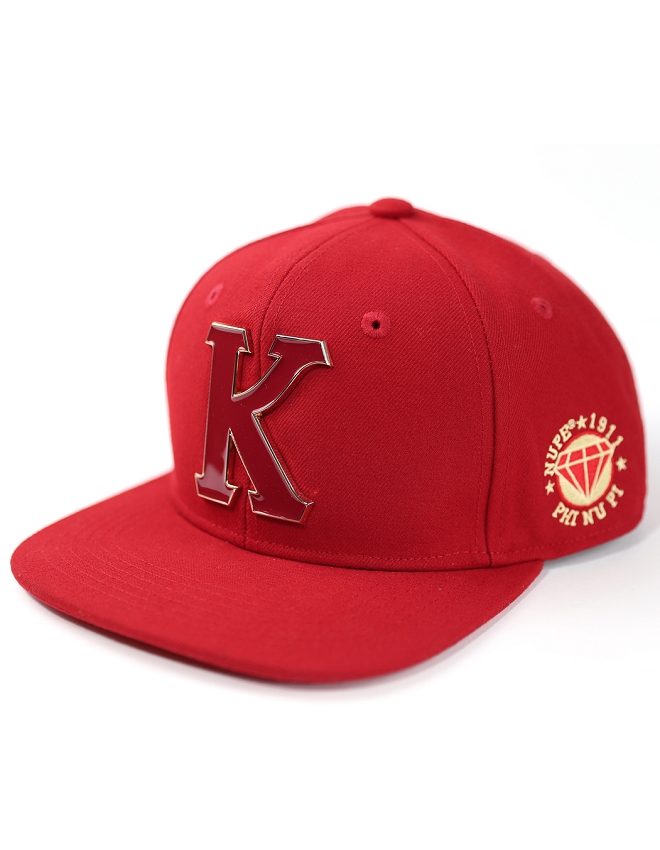 Kappa Alpha Psi Snap Back Cap with Metal K