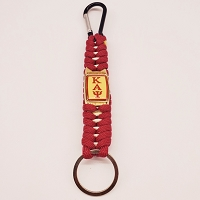 Kappa Alpha Psi Woven Key Chain with Carabiner