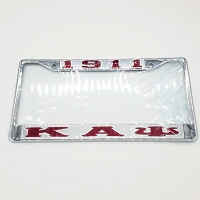 Kappa Alpha Psi Greek Letter and Year License Frame