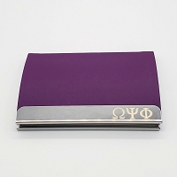 Omega Psi Phi  Laser Business/Credit Card Holder