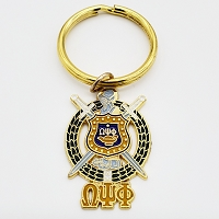 Omega Psi Phi  Crest Key Ring