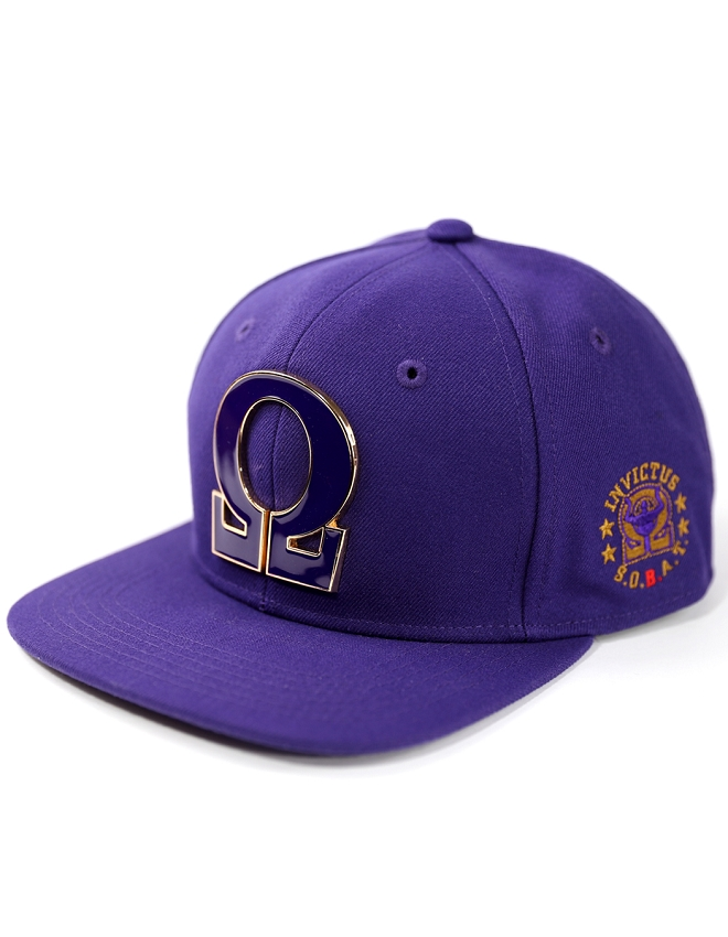 Omega Psi Phi Snapback with Metal Letter