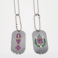 Omega Psi Phi  Double sided Dog Tag