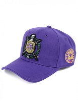 Omega Psi Phi  Baseball Cap with Crest and More