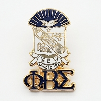 Phi Beta Sigma Crest Lapel Pin