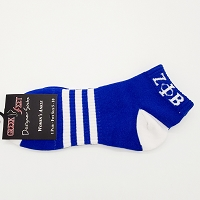 Zeta Phi Beta Ankle Socks Blue with White accents