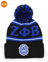 Zeta Phi Beta Knit Beanie - Black