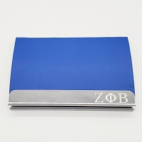 Zeta Phi Beta Laser Engraved Business Card Holder