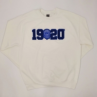 Zeta Phi Beta Crew Neck with Chenille Year and Crest