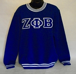 Zeta Phi Beta Embroidered Crew Neck