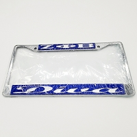 Zeta Phi Beta Mirrored License Frame  with Diva