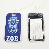 Zeta Phi Beta Luggage Tag embroidered with Crest