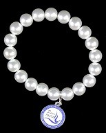 Zeta Phi Beta Pearl Bracelet with Charm