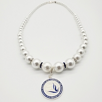 Zeta Phi Beta Pearl Necklace with Charm