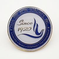 Zeta Phi Beta round Lapel Pin