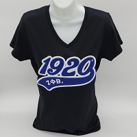 Zeta Phi Beta V-Neck Tee with Greek Letters
