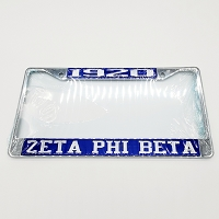Zeta Phi Beta Year and Name License Frame