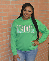 Alpha Kappa Alpha Green Crew Neck