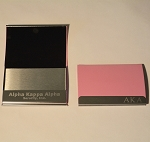 Alpha Kappa Alpha Laser Engraved Business Card Holder