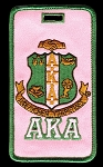Alpha Kappa Alpha Embroidered Luggage Tag