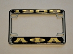 Alpha Phi Alpha Mirrored Motorcycle License Frame