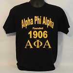 Alpha Phi Alpha Tee with Name - Founding year and Letters