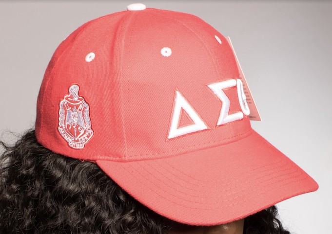 Delta Sigma Theta Cap with Greek Letters Red