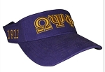 Omega Psi Phi Embroidered Visor with Greek letters