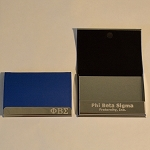 Phi Beta Sigma Laser Engraved Business/Credit Card Holder