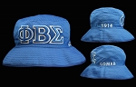 Phi Beta Sigma Floppy Embroidered Hat