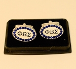 Phi Beta Sigma Greek Letter Cuff Links