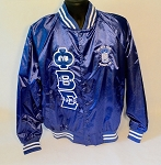 Phi Beta Sigma Satin Embroidered Baseball Jacket