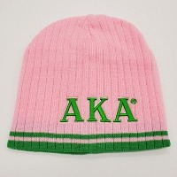 Alpha Kappa Alpha Beanie with Greek Letters - 2 versions