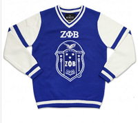 Zeta Phi Beta V-Neck Sweater