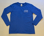 Zeta Phi Beta Embroidered Long Sleeve Tee