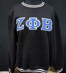 Zeta Phi Beta Embroidered Crew Neck - Black