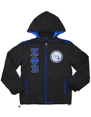 Zeta Phi Beta Windbreaker - Black or Blue